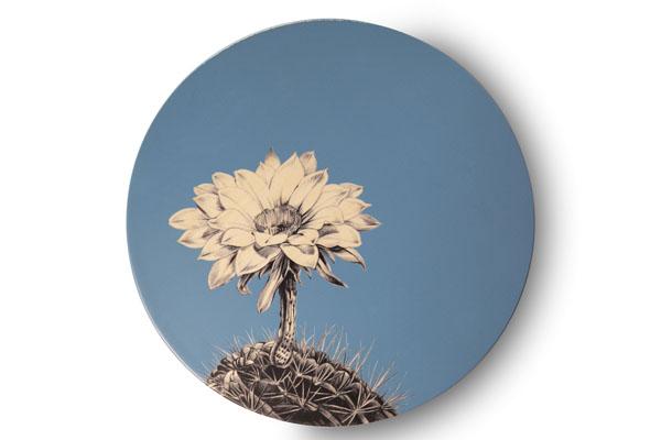 Sottopiatto - I Fiore di Cometa - Blu - Contrada Degli Artigiani