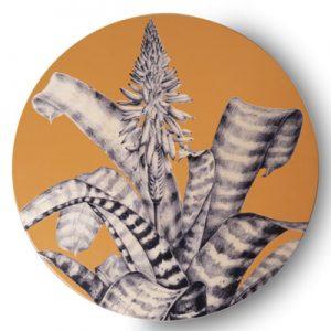 Sottopiatto (I Fiori di Cometa) - Arancio - Contrada Degli Artigiani
