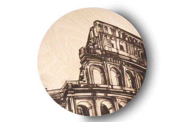Sottopiatto - L'Italia di Cometa - Roma -Contrada Degli Artigiani