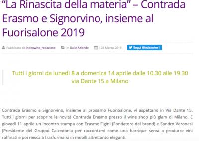 IndexWine.it, Marzo 2019 - Contrada Erasmo