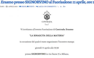 Linvitatospeciale.it, Aprile 2019