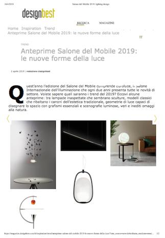 Design Best. Aprile 2019 - Contrada Degli Artigiani